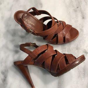 Cole Hann Nike Heel strappy sling sandal shoe 9